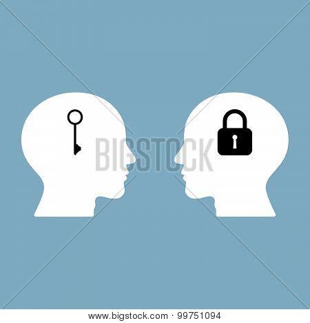 Lock Head And Key Head