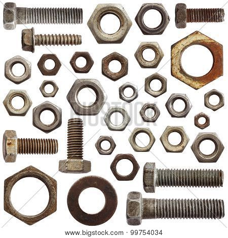 Set Of Bolts And Nuts