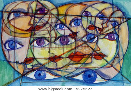 Many Faces, Eyes And Shapes