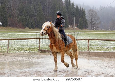Horse Back Riding In Winter
