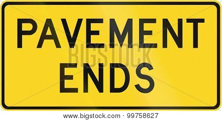 Pavement Ends In Canada