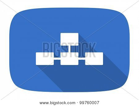 database flat design modern icon with long shadow for web and mobile app