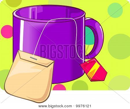 Cup with sugar packet