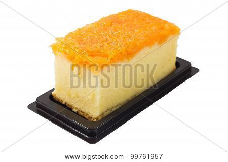 Foi Thong Cake Isolated On White Background,with Clipping Path