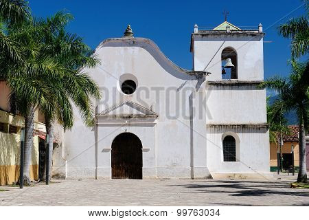 Honduras, View On The Colonial San Fransisco Church In Comayagua