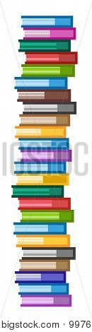 Books vector logo icons set. Books scyscraper. Sale background. Book logo. Book open. Back to school background. Education, university, college symbol or knowledge, books stack, publish, page paper