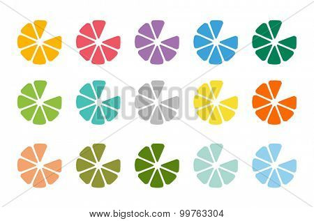 Lime or lemon fruit drink logo icon template design. Fresh juice, drink, yellow color and splash, vegetarian, cold. Stock vector
