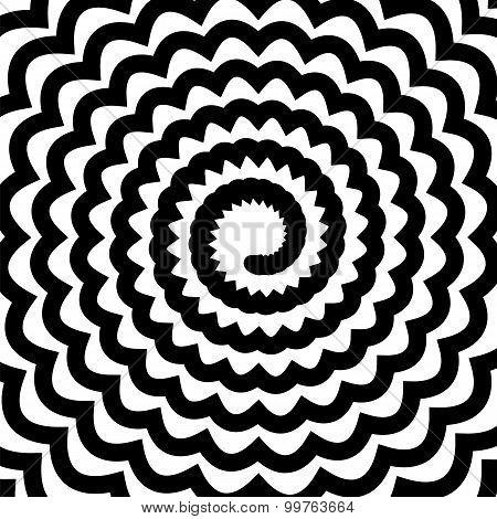 Black Spiral Background
