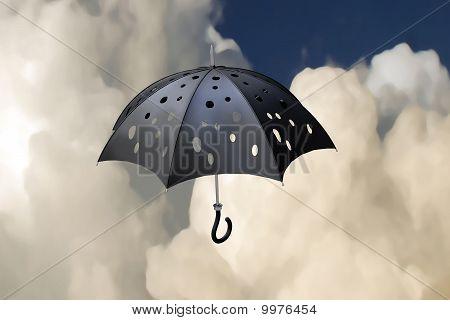 Flying Pierced Umbrella