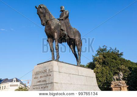 Statue Of The Leopold Ii In Brussels, Belgium