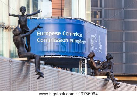 European Comission Building In Brussels