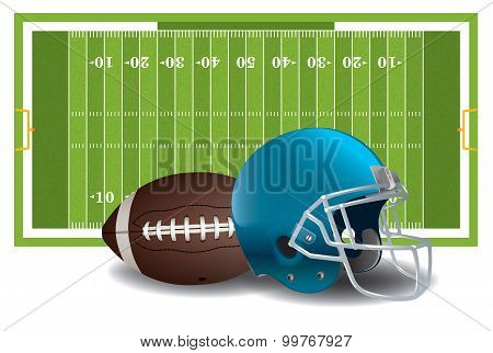 American Football Elements Illustration