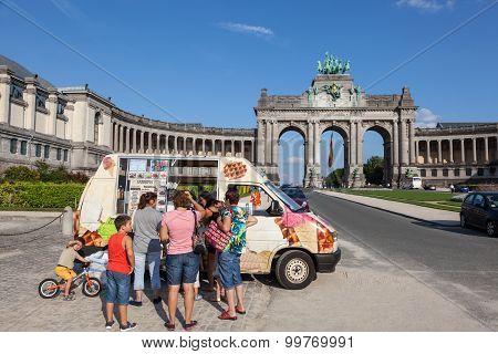 Ice Cream Car In Brussels
