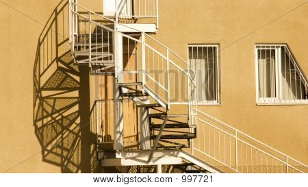 Shadow From A Screw Stairs