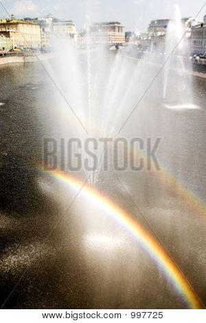 Rainbow From A Fountain