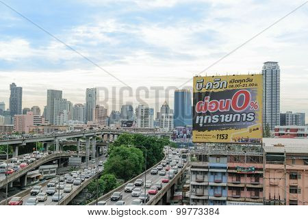 Daytime And Transportation In Bangkok City Thailand