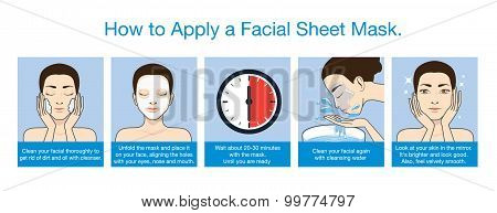 Step apply facial sheet mask