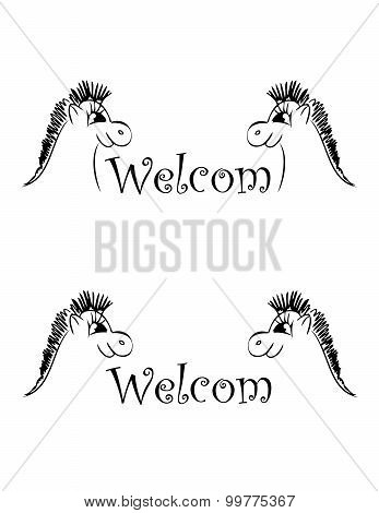 set of banner welcom