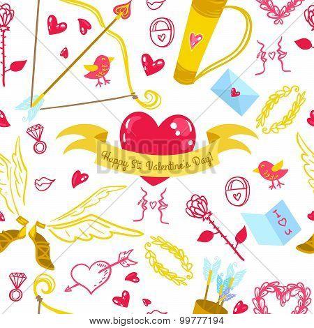 Valentines Day love pattern