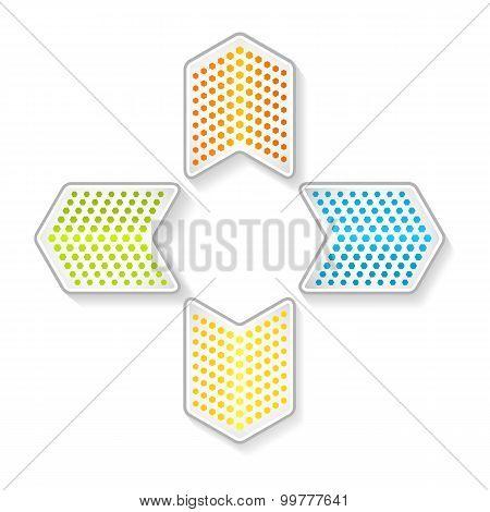 Glowing-arrow-logo-on-white-background