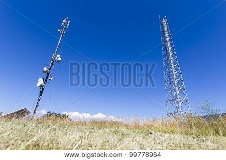 Communication Tower Against Blue Sky