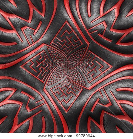 Pattern background leather tile