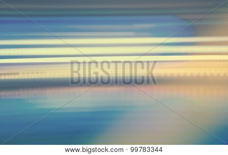 Abstract Vintage Blue Streaked City Lights Background