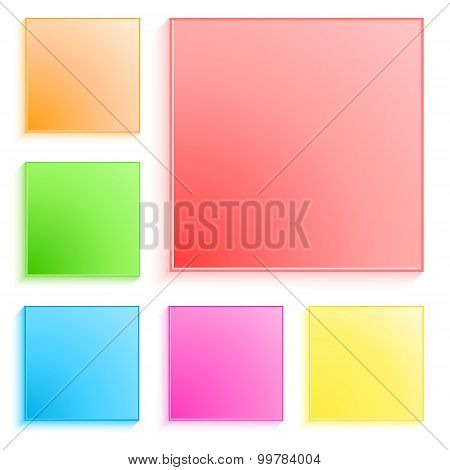 Set-of-colored-square-banner-templates-effect-frosted-glass