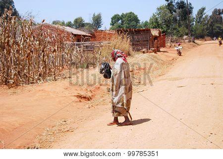 The Return At Home To Pomerini Village In Tanzania, Africa 697