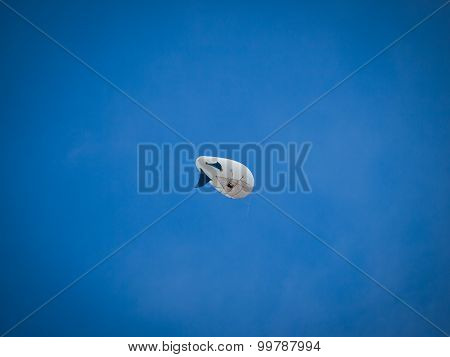 The airship in the blue sky