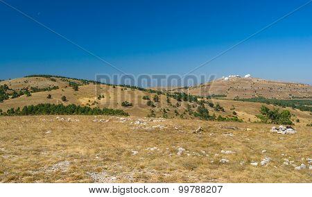 Fall landscape on Ai-Petri mountain tableland