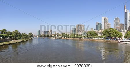 Panoramic View Of Frankfurt Am Main, Germany