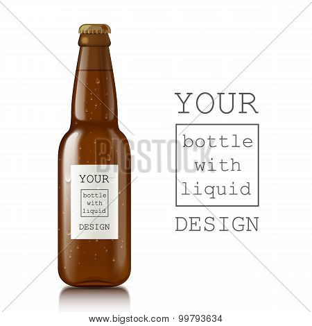 Template of glass beer bottles.