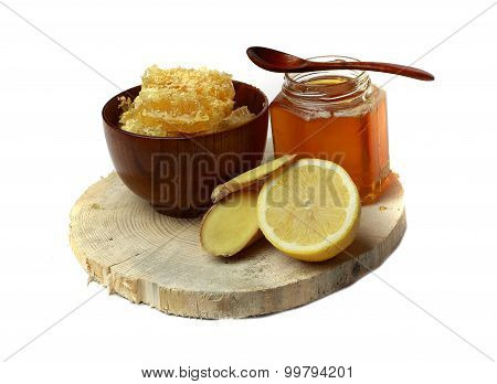 Honey In The Comb , Honey Jar
