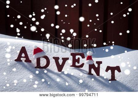 Advent Mean Christmas Time Snowflakes Santa Hat