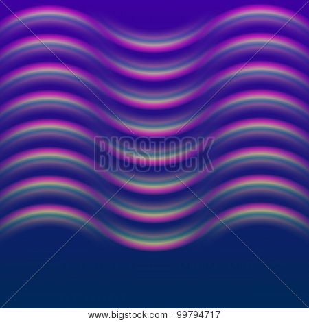 Glowing Wave Effect Dark Blue Background
