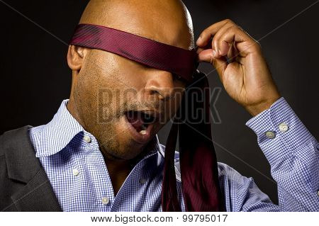 Blindfolded Businessman