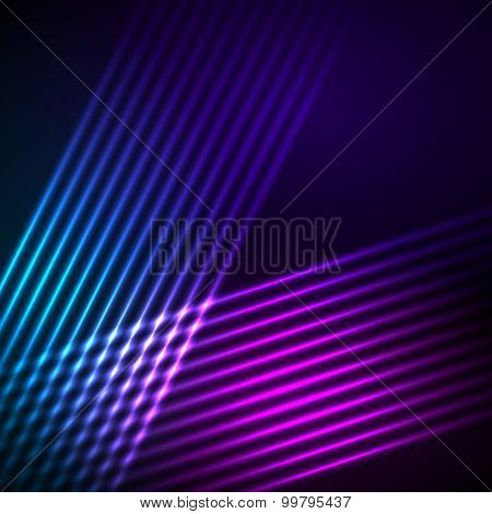 Line Glowing Effect Black Background