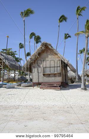 Wood Hut On A Tropical Beach