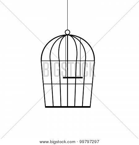 Birdcage Black Vector