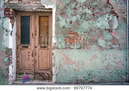 Old Building With Vintage Door