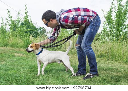 Man Training Dog