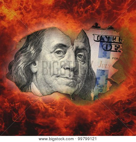 Burning Dollar Bill