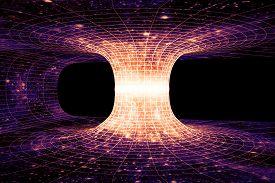 stock photo of einstein  - A wormhole or Einstein - JPG