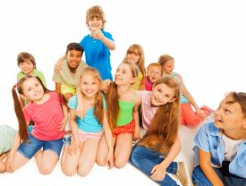 image of prank  - Kids happy together hanging out  laughing - JPG