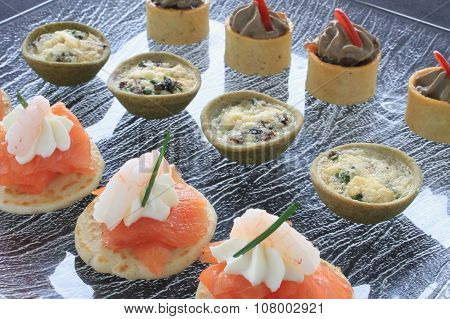 canape starter food