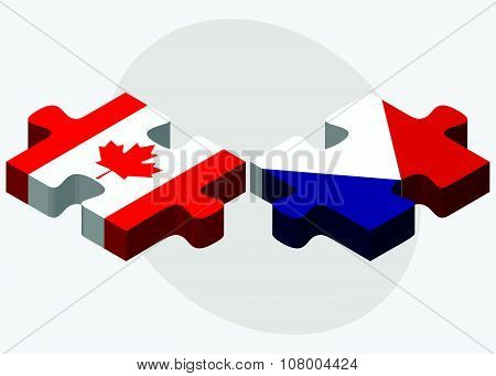 Canada And Sint Maarten Flags