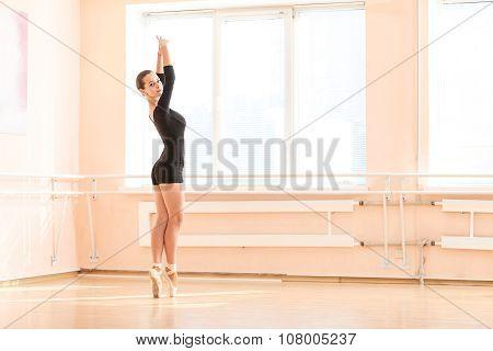 Young ballet dancer.