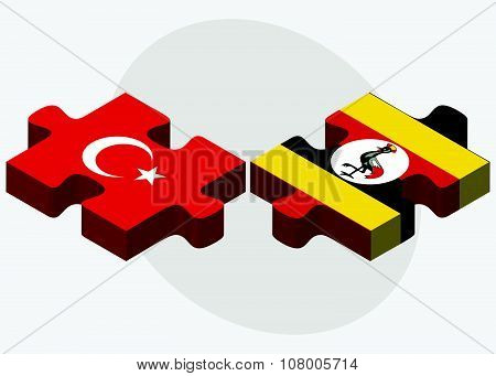 Turkey And Uganda Flags