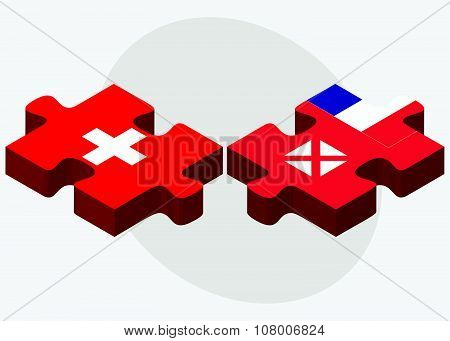 Switzerland And Wallis And Futuna Flags